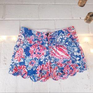 Lily Pulitzer Scalloped Shorts